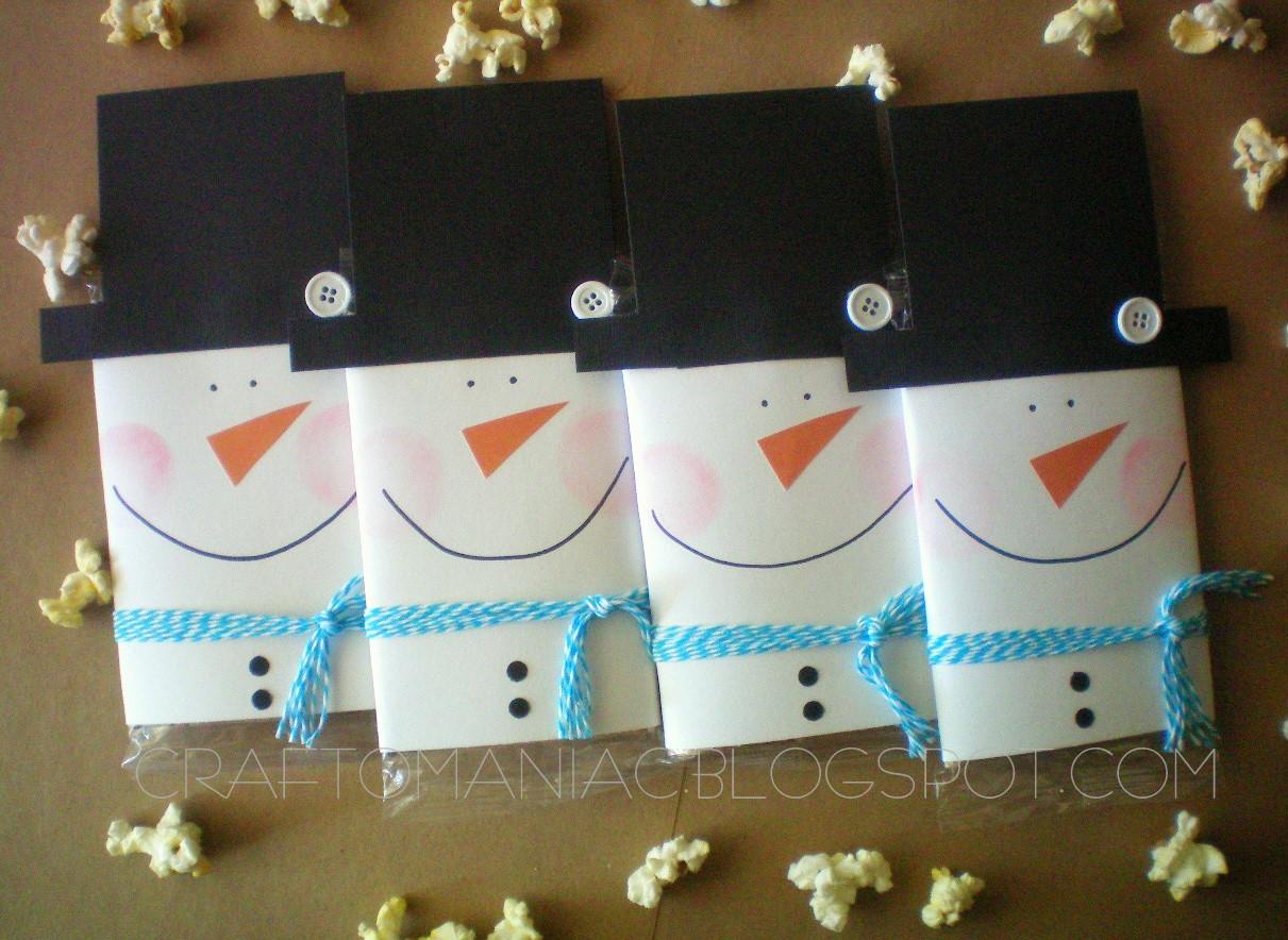 Teacher Gift Snowman Popcorn Covers