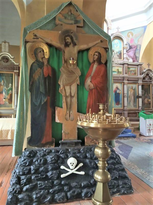 interno della chiesa ortodossa di trakai