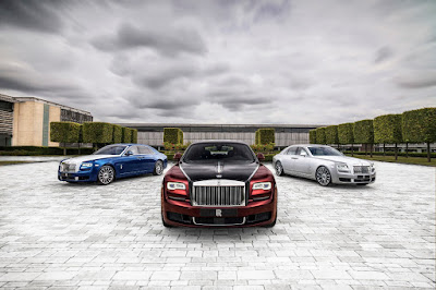 Source: Rolls-Royce. The three colour ways for the Ghost Zenith Collection.