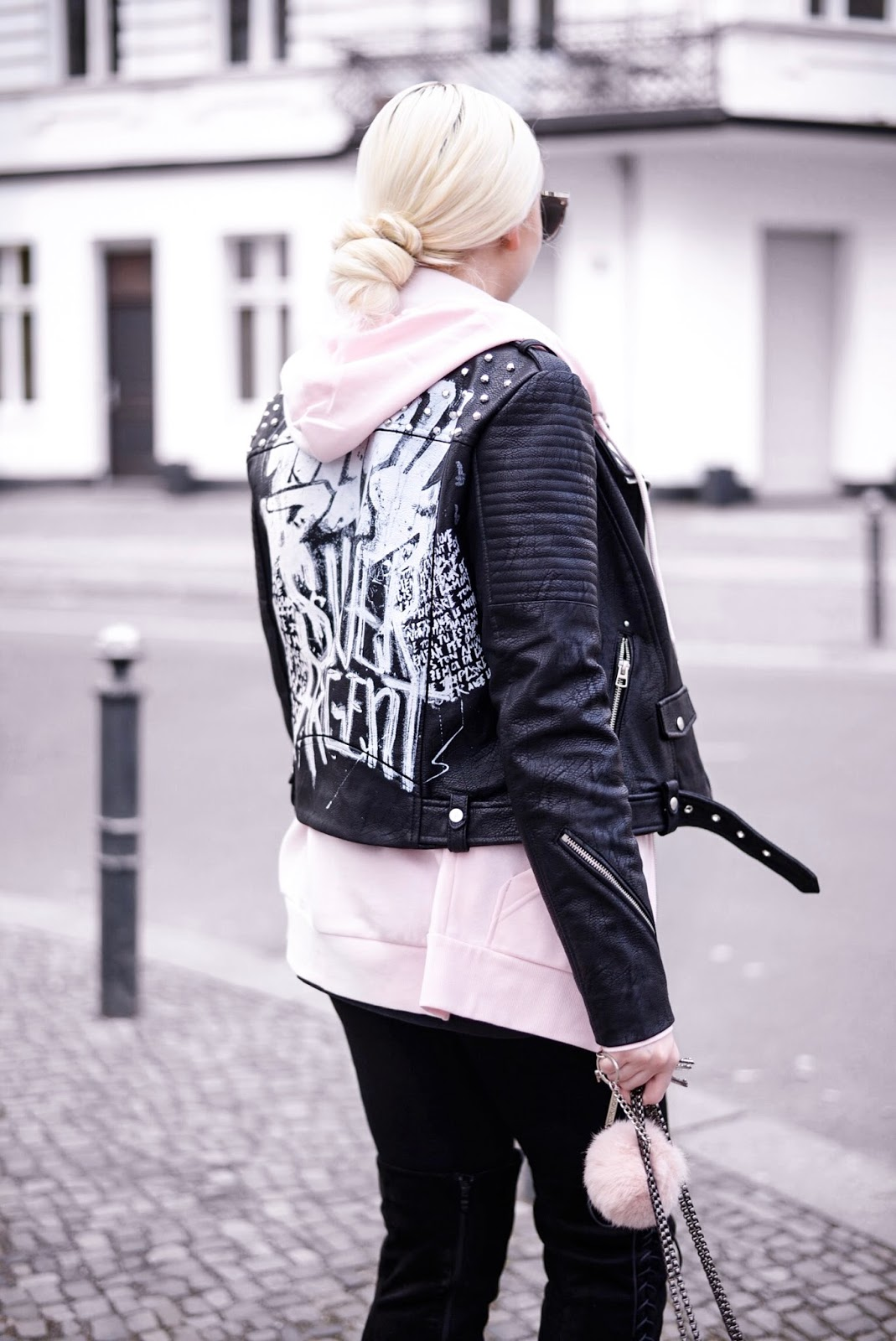 zara leather jacket_leather jackets with studs_edgy streetstyle