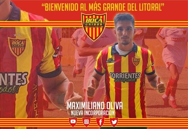 Oficial: Boca Unidos, llega Maximiliano Oliva