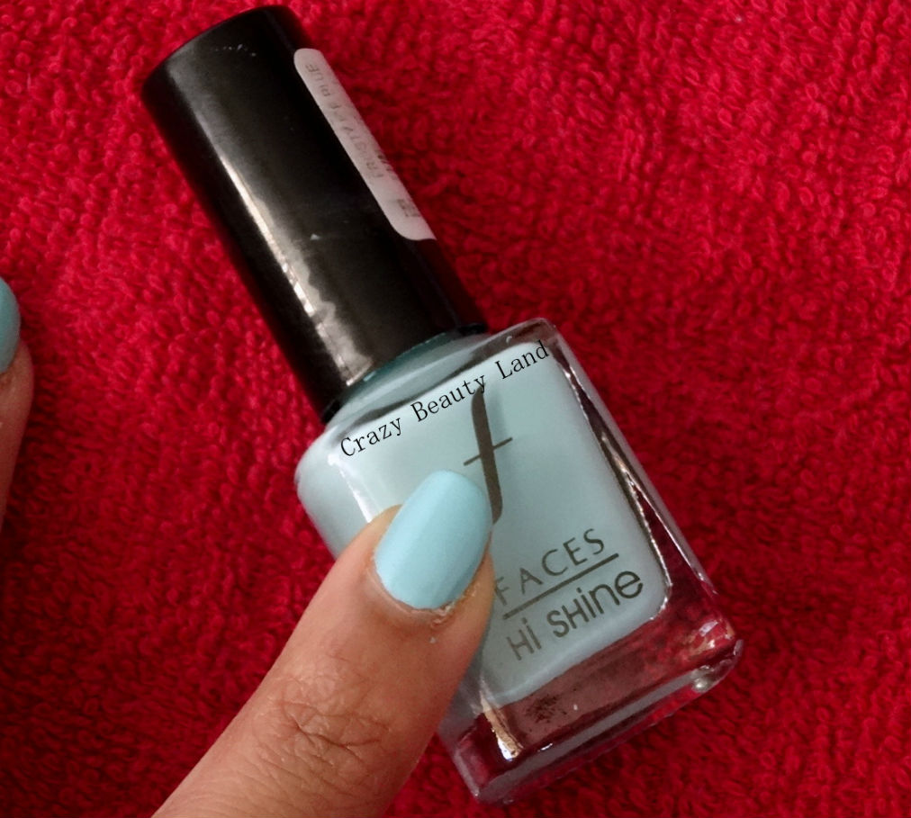 Faces Frosty Ice Blue Hi Shine Nail Enamel Review