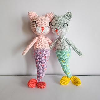 mermaid cat doll crochet pattern