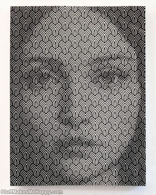 This Painter Plays With Geometric Shapes To Create Hypnotic Faces