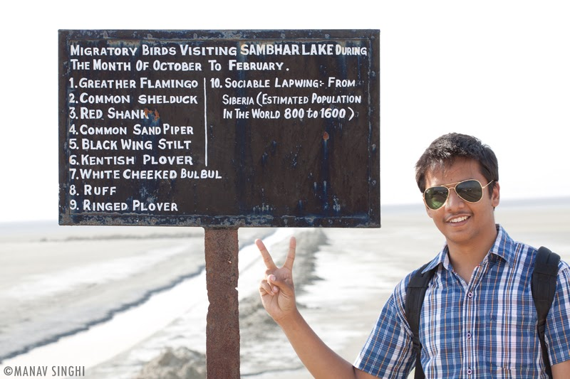 With Pulkit Soni a bord showing  list of Few of the major Migratory Birds.