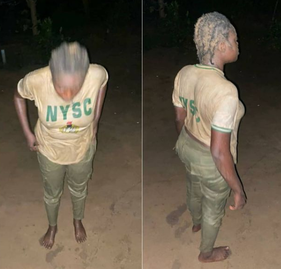 Female army officer caught humiliating a corp member