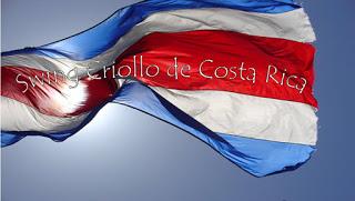 Bandera de Costa Rica con Swing Criollo de Costa Rica en Letras