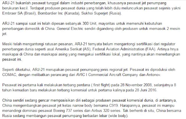 Wouw Mantap Maskapai Penerbangan Republik Indonesia Pesan 30 Pesawat Jet Buatan China Dengan Total Biaya Rp 29,9 Triliun - Commando