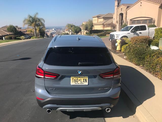 Rear view of 2020 BMW X1 xDrive28i