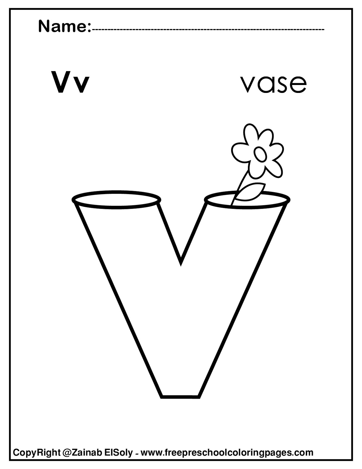 Letter V Coloring Pages - GetColoringPages.com   1600x1236