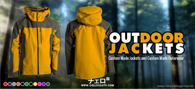 Bikin Jaket Outdoor Bordir dan Sablon - Custom Jacket Adventure