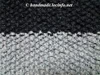 1目1段鹿子(かのこ)編み