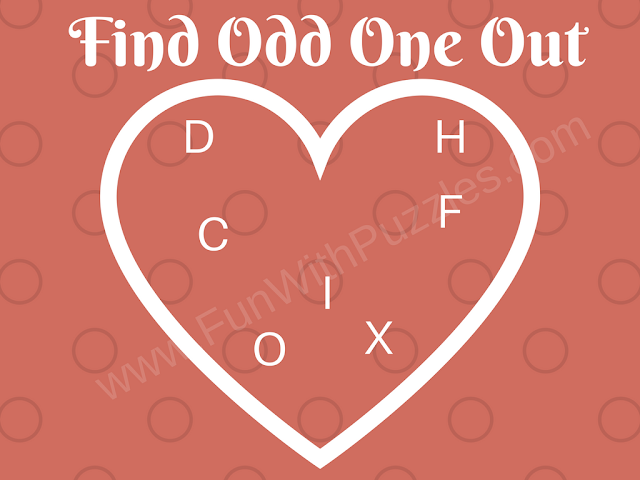 Finding Odd Letter Out Picture Puzzle