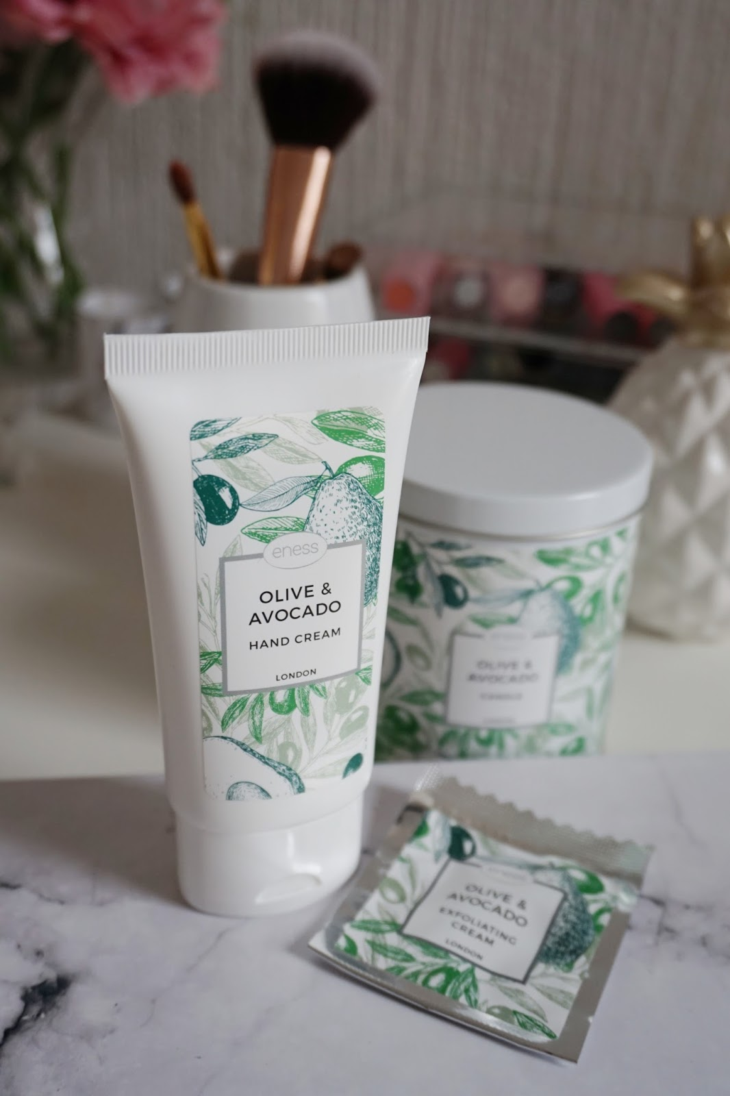 The Olive and Avocado hand cream nourishes during the colder days