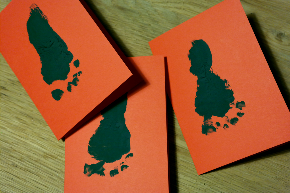 DIY: Baby's First Christmas Cards