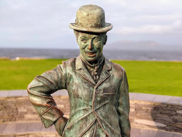 Charlie Chaplin statue in Waterville Ireland
