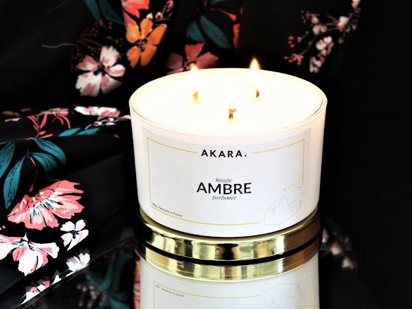 BOUGIE | AKARA AMBRE : BOUGIE PARFUMÉE NATURELLE 3 MÈCHES - AVIS