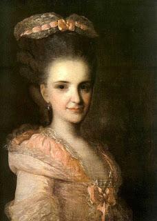 Федор Рокотов - Портрет неизвестной женщины в розовом платье