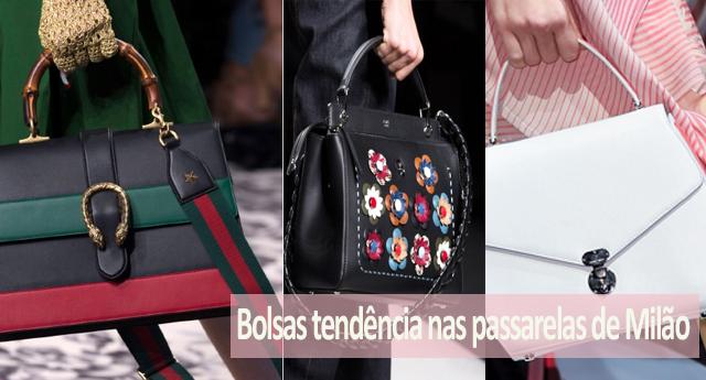 Bolsas que foram tendências nas passarelas de Milão