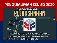 Pengumuman Hasil KSN SD Tahun 2020 Tingkat Kecamatan