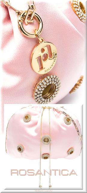 Rosantica pink Edith crossbody bag #bags #eveningbags #rosantica #brilliantluxury