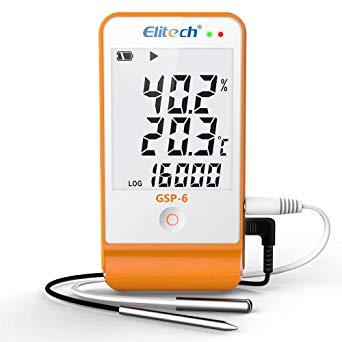 Elitech GSP-6 Temperature & Humidity Data Logger
