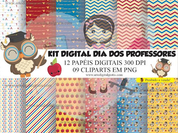 KIT DIGITAL DIA DOS PROFESSORES CUTE GRÁTIS