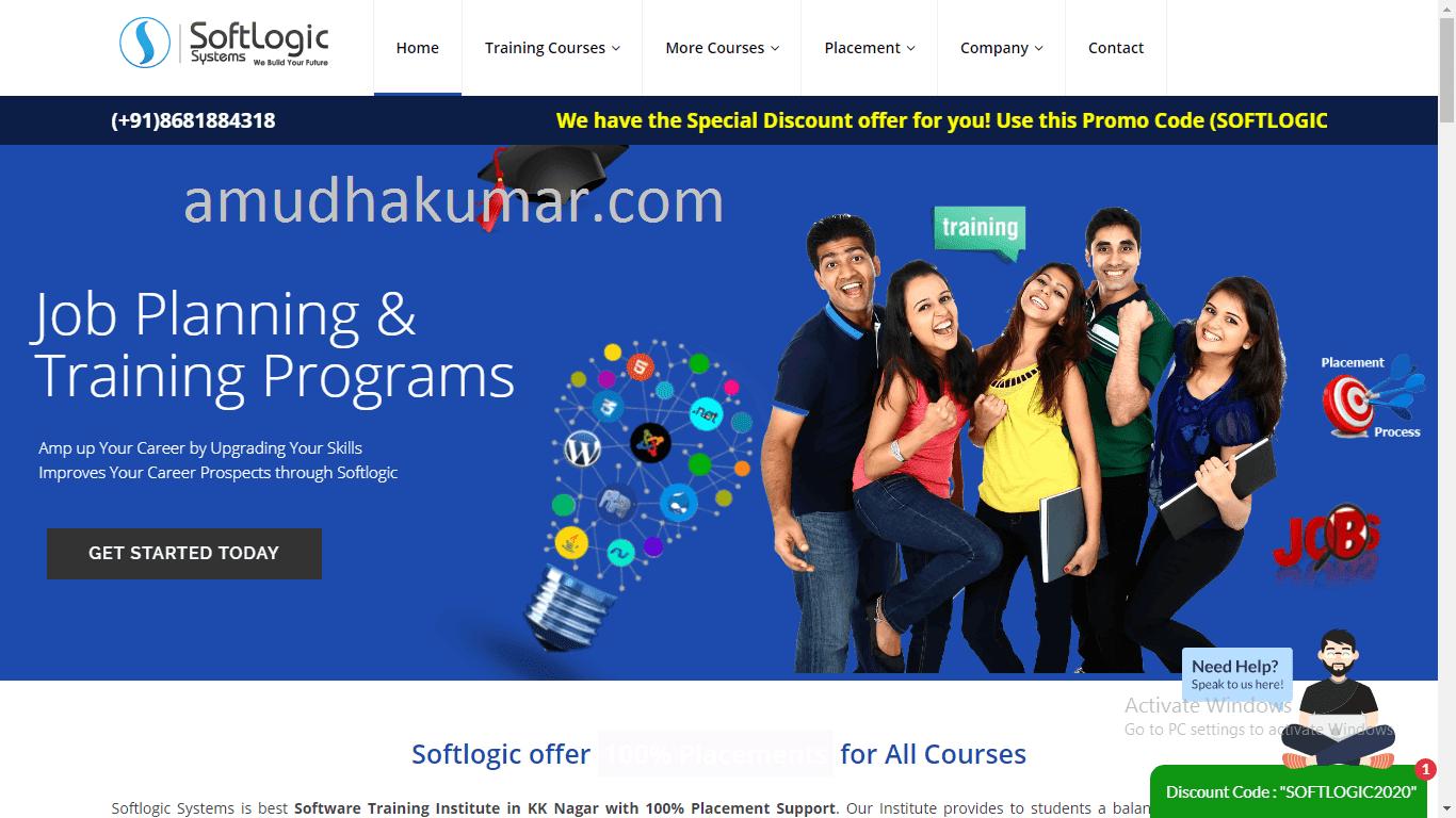 Softlogic Digital Marketing Training Institute in Chennai Amudhakumar