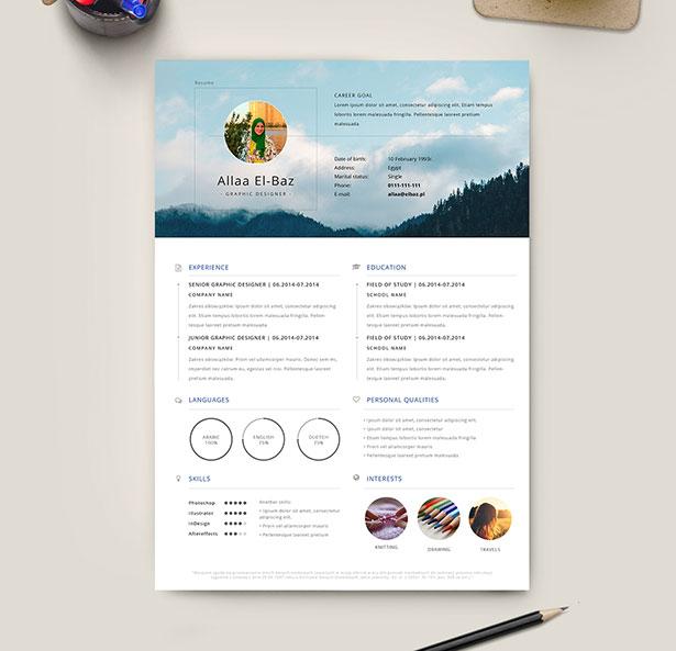 Template Resume CV 2018 - Free Ai CV Resume Template Design
