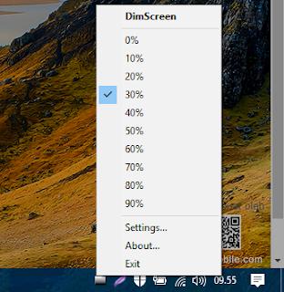 DimScreen Aplikasi Peredup/Filter Layar Komputer