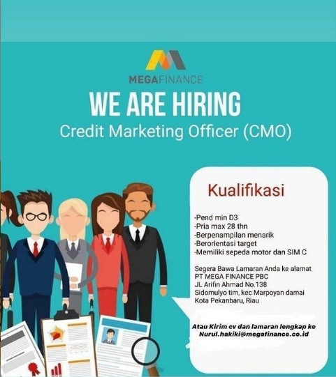 Lowongan Kerja dari Mega Finance Membuka Loker Credit Marketing Officer (CMO)