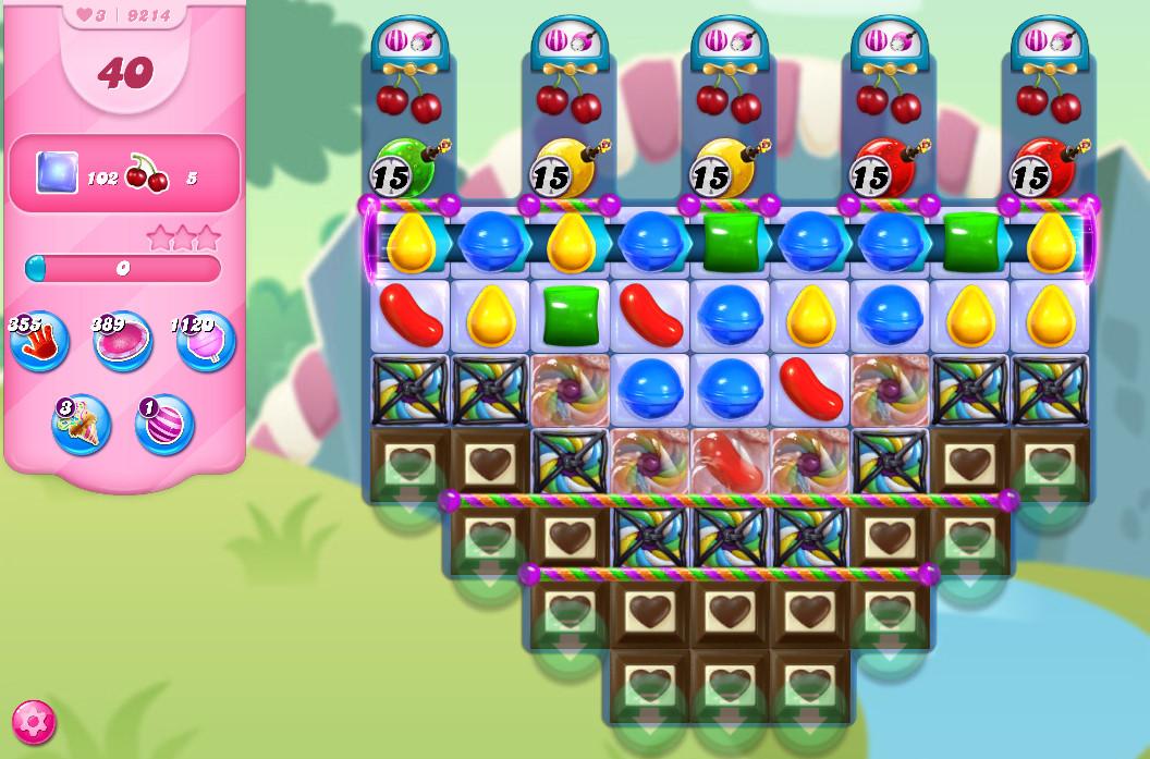 Candy Crush Saga level 9214