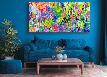 Vibrant abstract art, large wall art, modern abstract art,