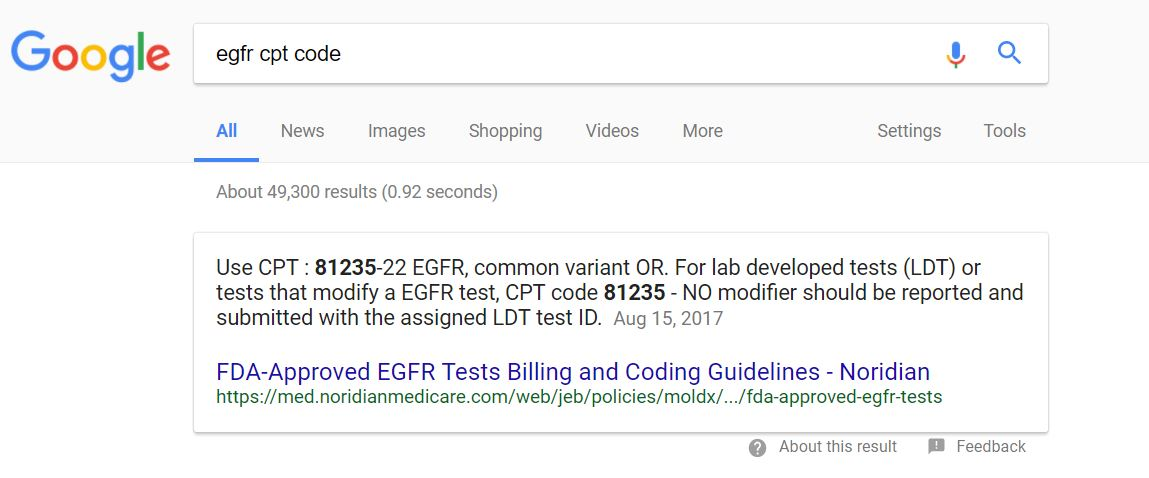 Discoveries in health policy variable prices per test for egfr if you google the words egfr cpt code this is the boxed top hit you get at google publicscrutiny Image collections