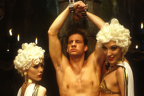 """Rimmer and girls in """"Terrorform"""" from Red Dwarf V"""