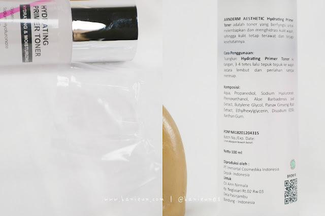 Airnderm Primer Hydrating Toner