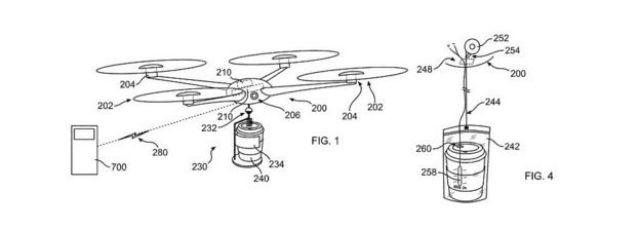Patente de Drone que entrega café da IBM