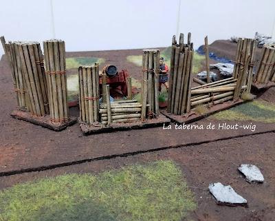 Gaviones para artillería