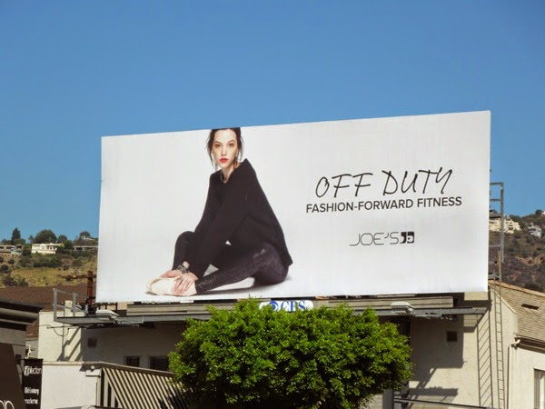 Joes Jeans Off Duty fashion-forward fitness billboard