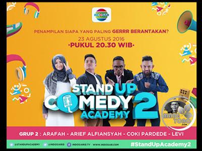 Stand Up Comedy Academy ( SUCA ) 2, 16 Besar, Grup 2 : Arafah, Arief Alfiansyah, Coki Pardede, Levi.