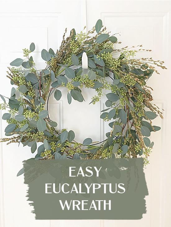 eucalyptus wreath pin