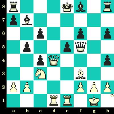 Les Blancs jouent et matent en 2 coups - Bennsdorf vs G Krepp, corr., 1954
