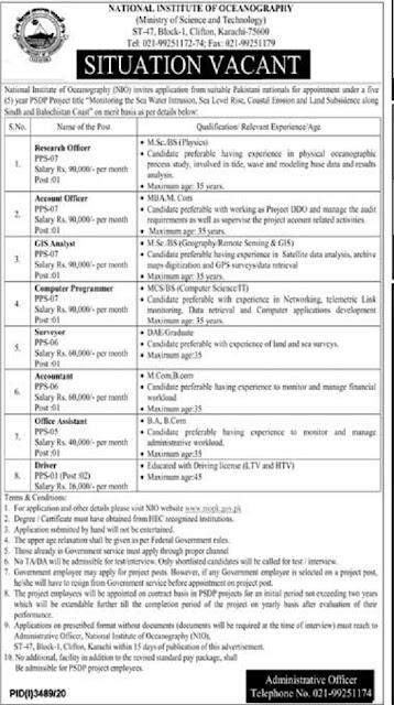national-institute-of-oceanography-karachi-jobs-2021-advertisement