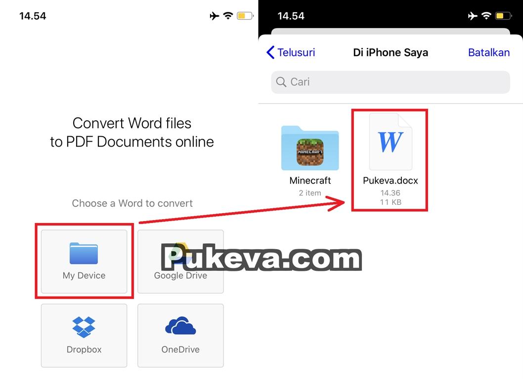 Cara Mudah Mengubah File Word Ke Pdf Di Iphone Pukeva