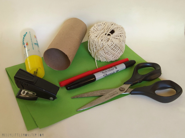 Toilet paper roll frog craft supplies