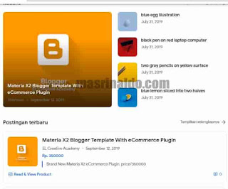 Review Template Materia X2 Premium Tema Blogger Anti Mainstream 3