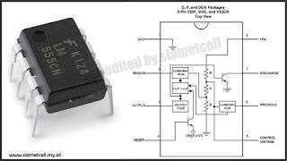 konfigurasi pin ic 555