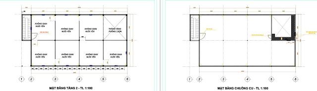 Bản vẽ thiết kế mô hình nhà nuôi chim yến 10x20x3 dành cho tỉnh An Giang
