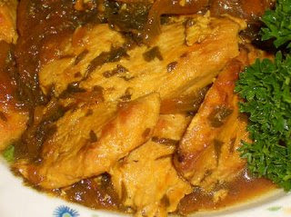 Saffron Chicken with Parsley and Lemon  found on KalynsKitchen.com