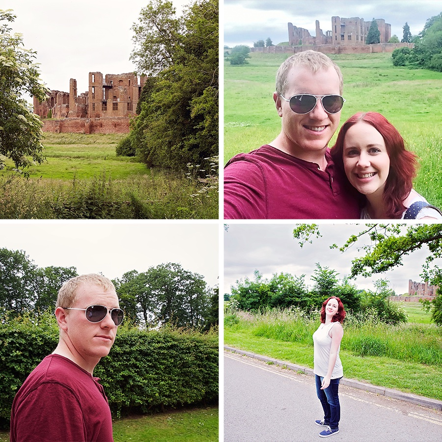 Montage of photos from Kenilworth Castle